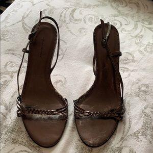 Banana Republic Metallic dark grey heels
